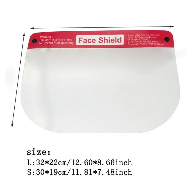 Reusable Safety Face Shield Transparent Protective Sheild Anti-Saliva Windproof Dustproof Full Face Cover Hat 1