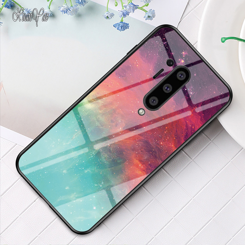 OnePlus 8 Pro Case Glass XUANYAO Silicone Soft Frame Cover For OnePlus 8 Case Hard Starry Sky Glass Back Cover One Plus 8 Pro 1+