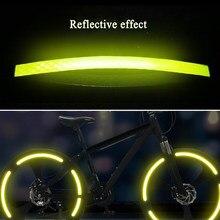 Acessórios da bicicleta adesivos reflexivos tira mtb bicicleta roda adesivo fita fluorescente refletor adesivo ciclismo decoração