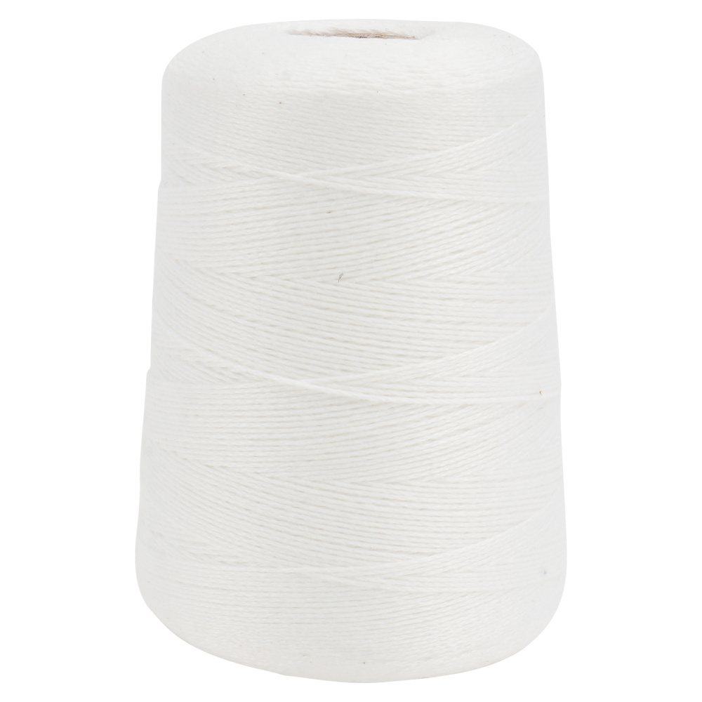 1 Roll 500M Fine Cotton Rope Durable Hanging Rope Woven Cotton String Bundle Wrapping Rope for Sausage Pork Elbow Bacon zongzi (