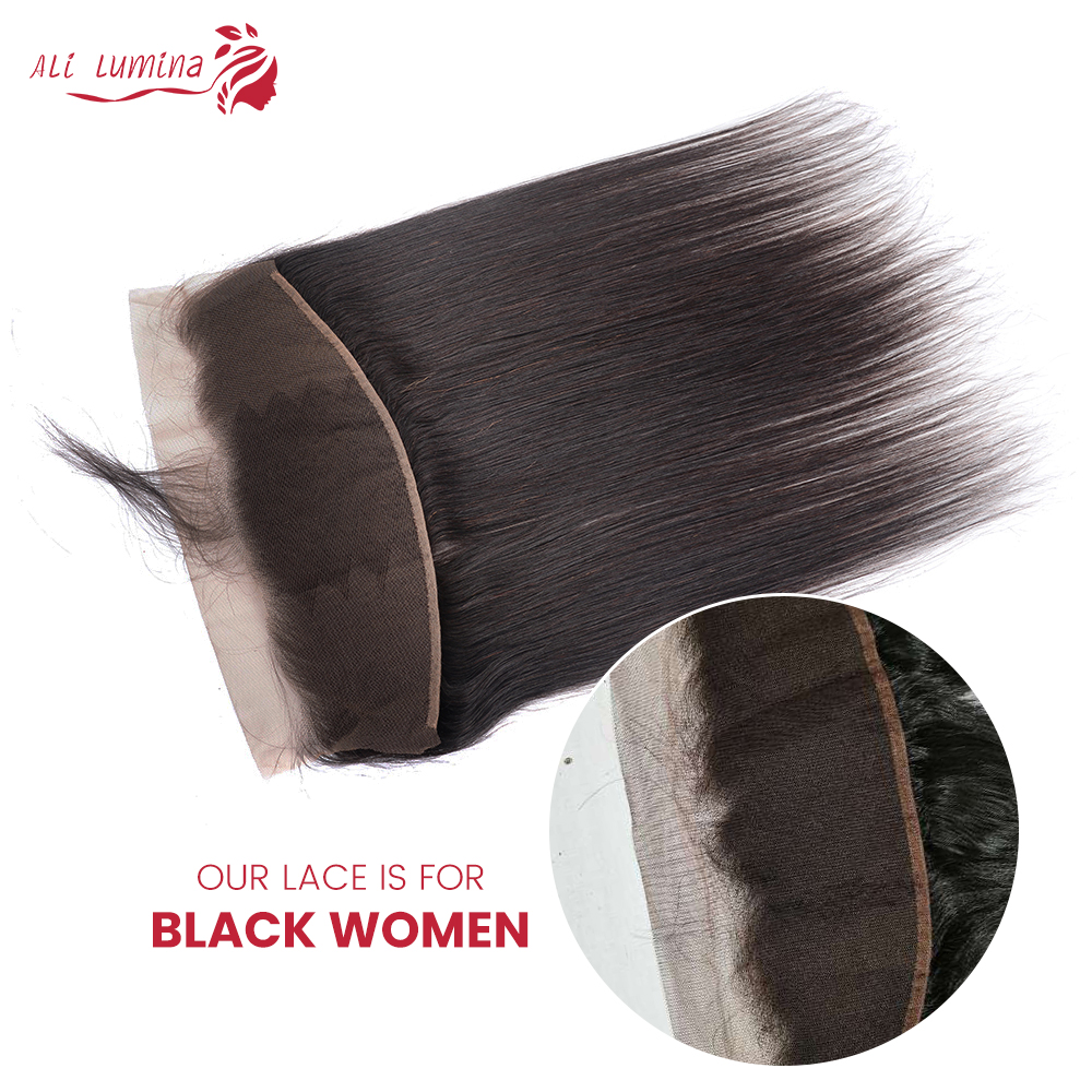 Straight  Lace Frontal Closure 13x4 Swiss Lace 100% Human  Hair Natural Hairline 4X4 Lace Closure 2