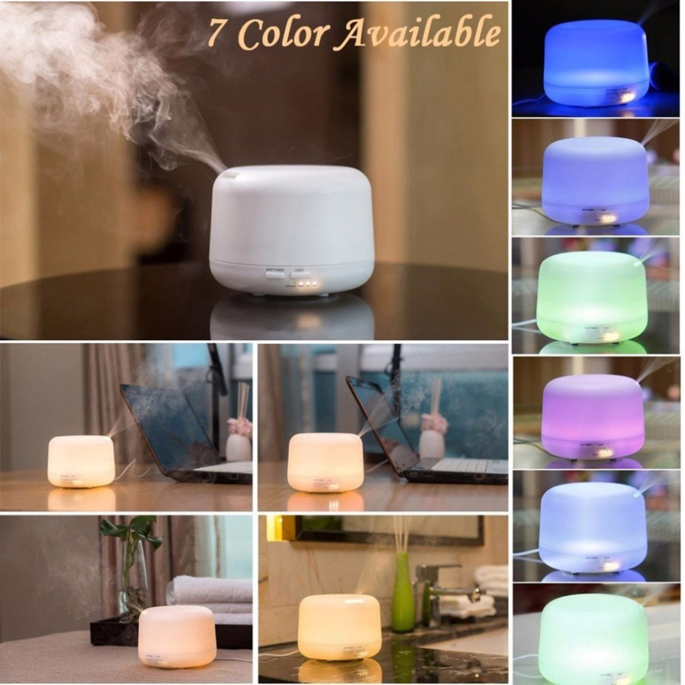 Colorful Remote Control Anti-dry Air Humidification Aroma Lamp 300ML Oil Aromatherapy Electric Mist Maker For Home Office Room
