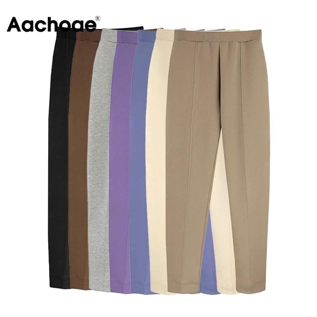 Aachoae 2021 Women Unisex Couple Fleece 100% Cotton Suits 2 Pieces Sets Casual Tracksuit Hoodies Sweatshirt Pants Plus Size 6