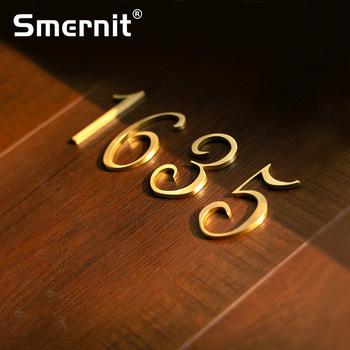 50mm Brass House Number Hotel Home Door Number Address Numbers for House Digital Outdoor Sign Plates 0-9 A-Z Alphabet Letters 125mm golden floating modern house number satin brass door home address numbers for house digital outdoor sign plates 5 in 0 9