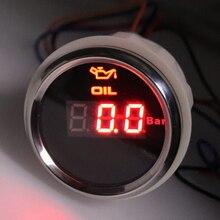 Universal 8 Farben Hintergrundbeleuchtung Auto Öl Manometer 52mm Digital Öldruck Anzeige Für Motorcyle Boot Lkw Marine 9 32V