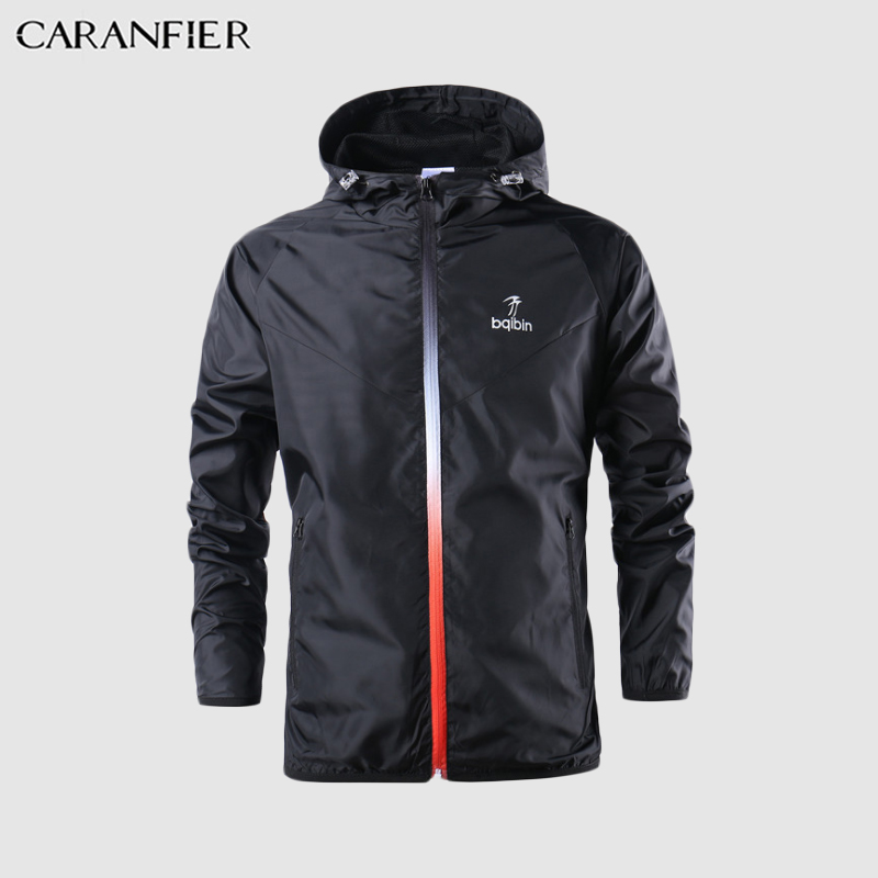 CARANFIER 2019 New Spring Summer Mens Fashion Outerwear Windbreaker Men' S Thin Jackets Hooded Casual Sporting Coat Big Size