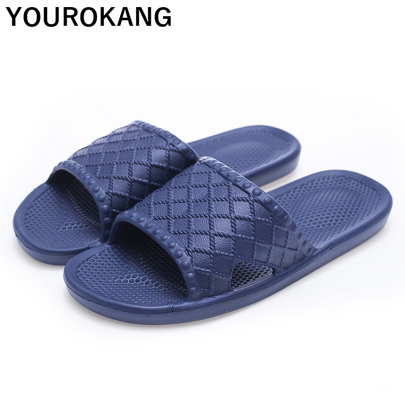 Summer Men Home Slippers Indoor Badslippers Soft Floor Male Flip Flops Antiskid Couple Beach Shoes Lovers Slides Household