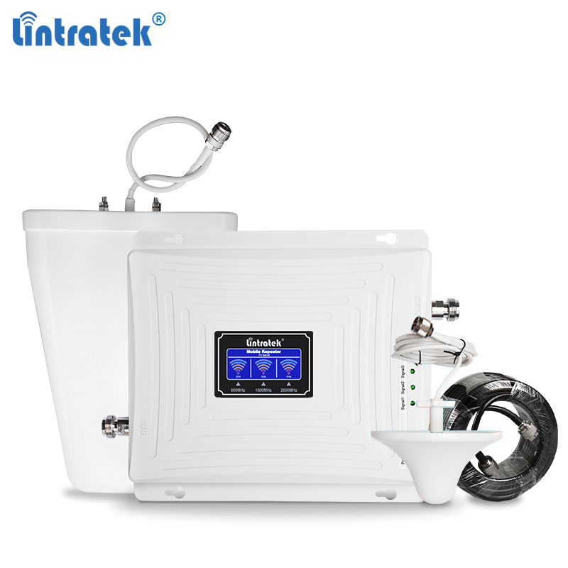 Lintratek NEW GSM 4G LTE Repeater GSM 900 GSM 1800 Booster 4G 2600 4G 1800 Tri Band 900 1800 2600 Signal Repeater Ampli 4G 2G#6