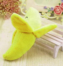 Funny Dog Puppy Chew Toy Squeaky Plush Sound Cute Fruits Banana Design Toys Pet products cute new arrival(China)