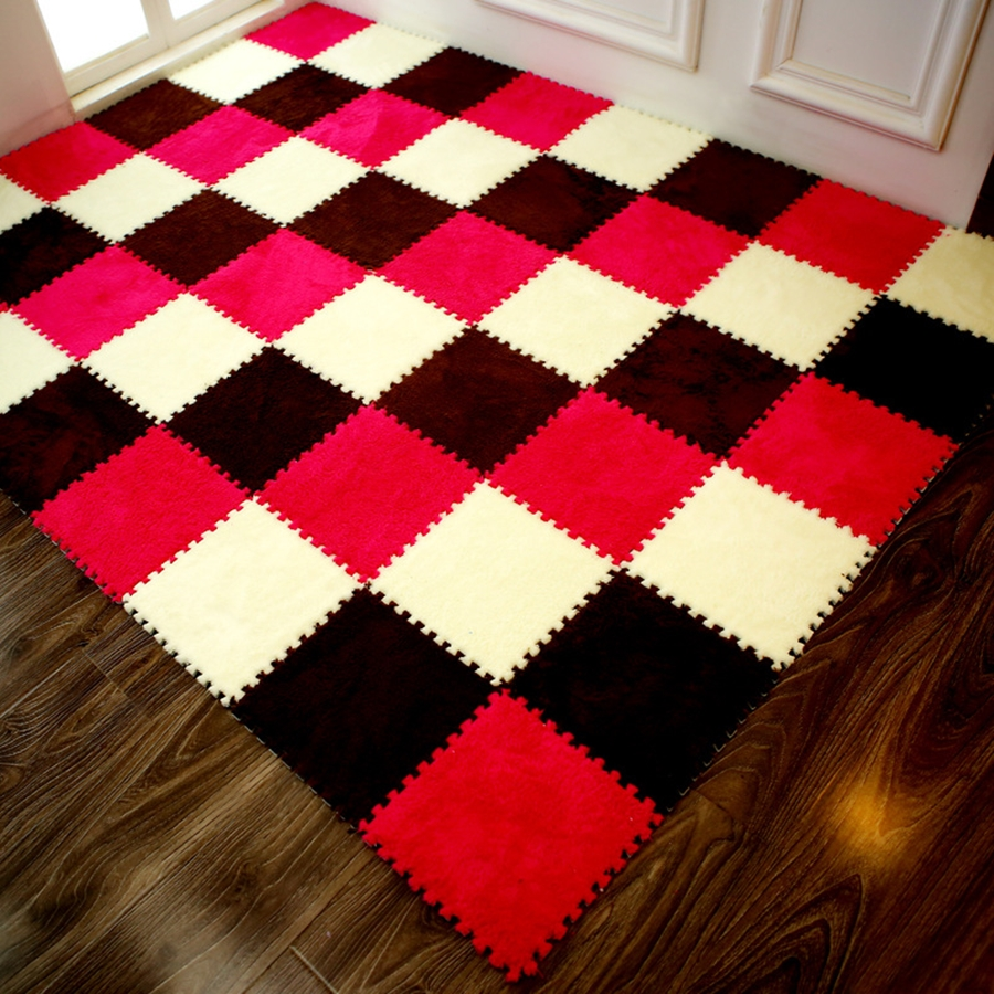 Hot Sale 25*25*1cm Living Room Bedroom Children Kids Soft Carpet Magic Patchwork Jigsaw Splice Heads Baby Climbing Mat 1pc