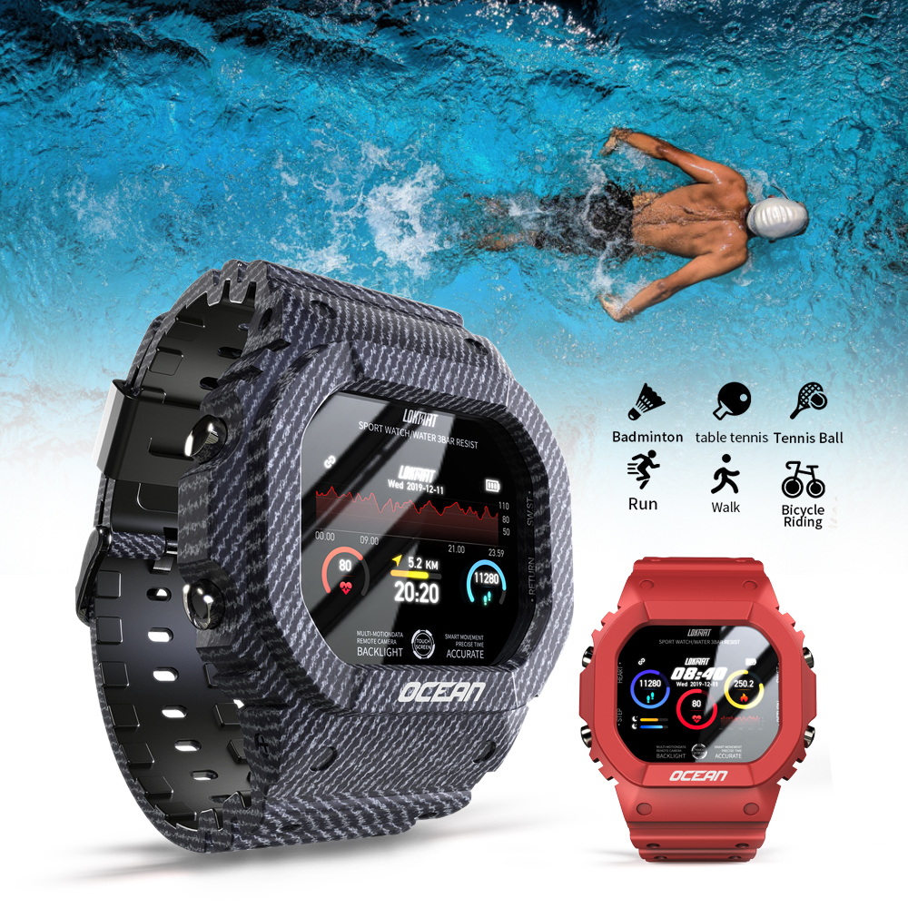 LOKMAT Ocean Smart Watch Men Fitness Tracker Blood Pressure Message Push Heart Rate Monitor Clock Smartwatch Women For Android 2