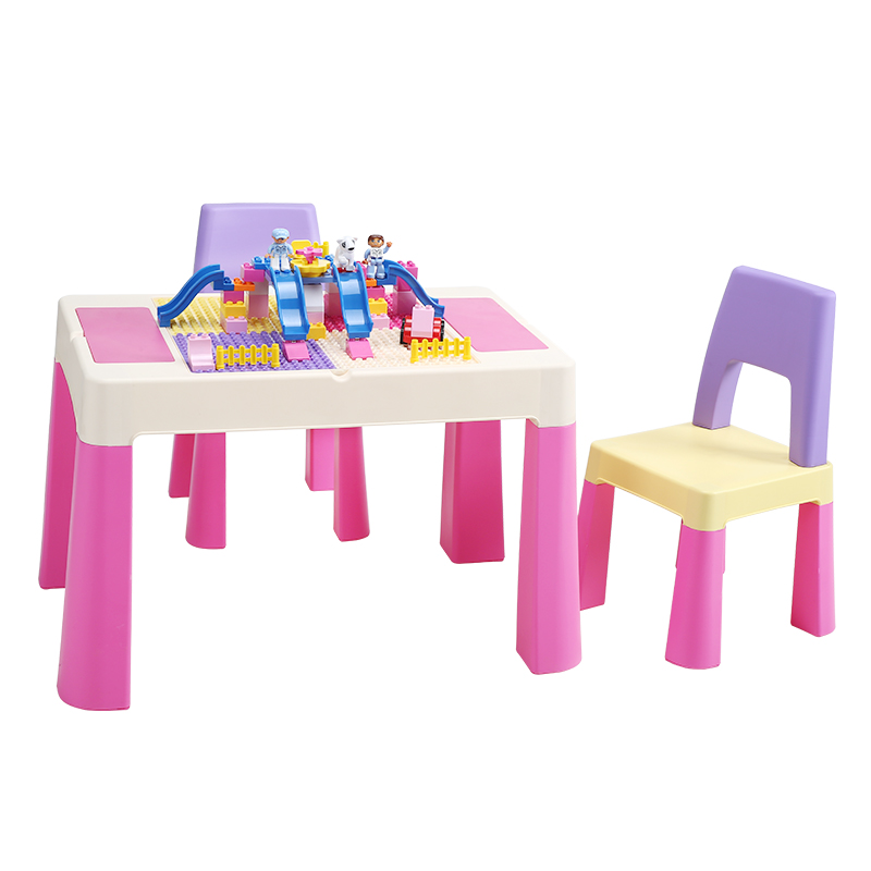 Play Table, Toy Table, Kindergarten Children's Table, Chair, Baby's Multifunctional Plastic Writing Learning Table