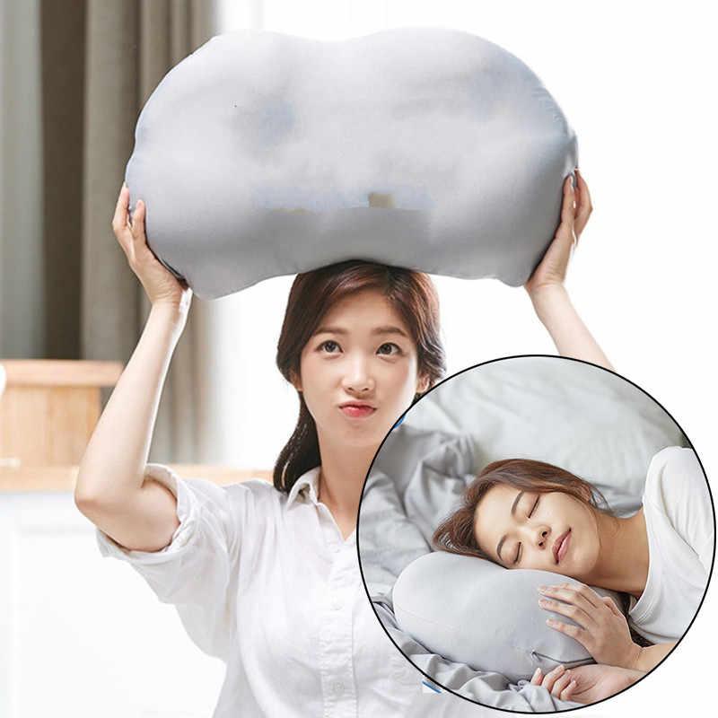 3D Leher Micro Airball Bantal Tidur Nyenyak Kecanduan Kepala Sisanya Udara Bantal Tekanan Relief Bantal Hadiah Mudah Dicuci Sarung Bantal Penutup