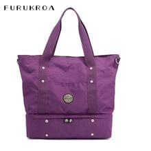 Tote-Shoulder-Bag Fitness Hand-Bag Weekend Nylon Travel Large-Capacity Waterproof Women