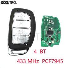 Qcontrol inteligente remoto carro chave fob 4 botões 433 mhz id46 chip para hyundai ix35 2015 + fcc id: 95440-2s610/2s600 tucson 2014 2015