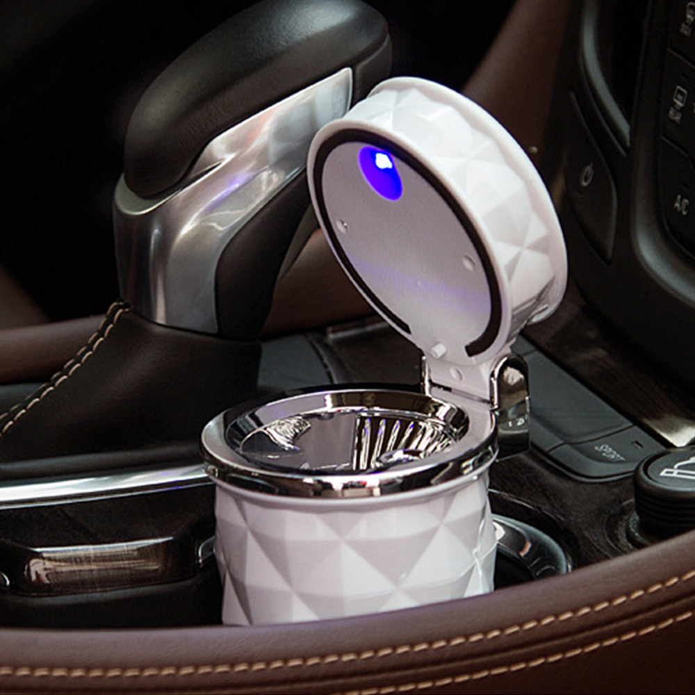 1PC Portable Auto Car Cigarette Smoke Car Ashtray LED Light Smokeless Ashtray Cigarette Holder Car Accessories