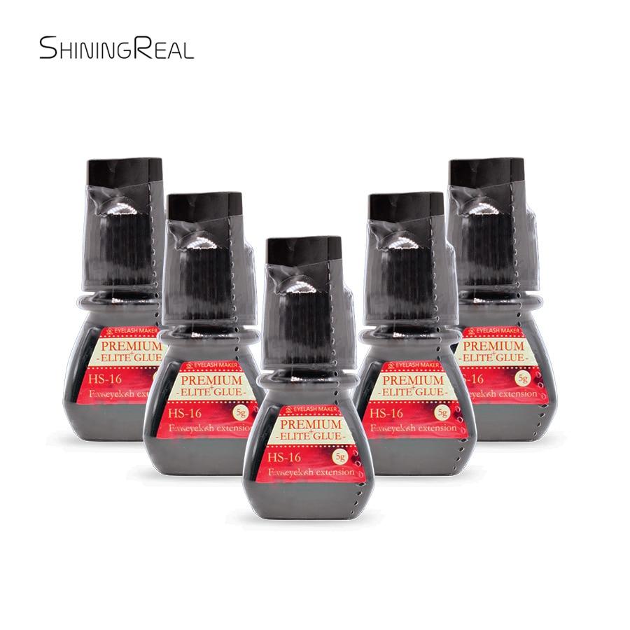 5PCS Elite Plus HS-16 5ml Premium Volume Adhesive Glue For Eyelash Extensions Retention 7-8 Weeks Free Shipping