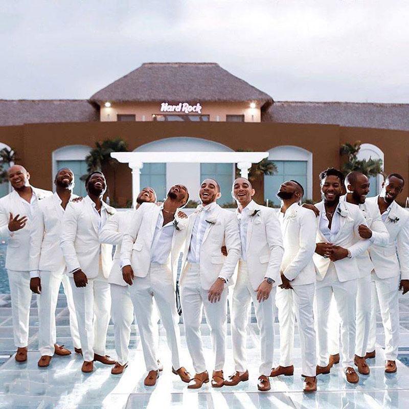 Summer Ivory Linen Men Suits For Wedding Suits Man Blazer Latest Design Groom Tuxedo 2Piece(Coat+Pants) Slim Fit Terno Masculino