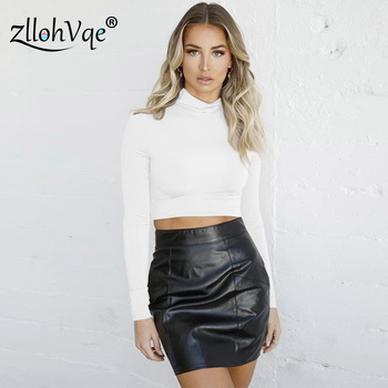 Zllohvqe Long Sleeve Turtleneck Top Tunique Tight Pure Color Female