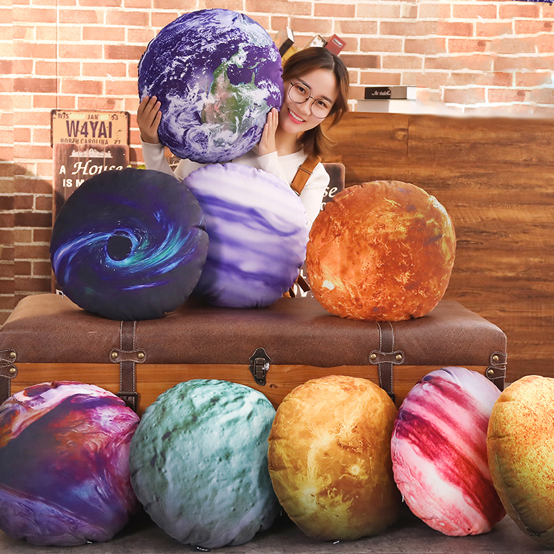 3D Planet Cushion Solar System Sun Moon Earth Decorative Pillow For Kids Room Sofa Bed Throw Pillow Gift For Boy Sun Moon Earth