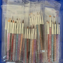 3Pcs/7Pcs Nail art Pinsel 7PCS X Professionelle Nylon Nail art Pinsel Set (Liner, detailers, Stripers, Ombre Pinsel) Nail art Pinsel