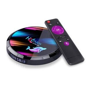 H96 x3 8 k android smart tv-caixa amlogic s905x3 quad core conjunto caixa superior media player suporte 3d hdmi iptv netflix youtube