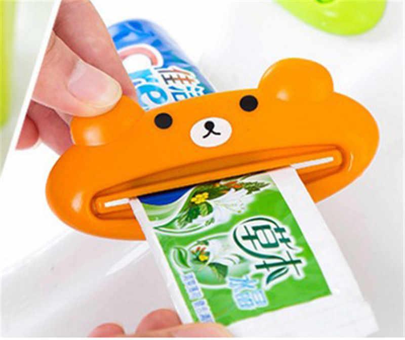 1 PC בעלי החיים קל משחת שיניים Dispenser פלסטיק צינור משחת שיניים מסחטת שימושי משחת שיניים מתגלגל מחזיק עבור בית אמבטיה