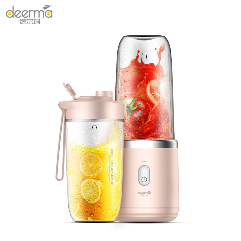Original Deerma 400ml Portable Electric Juicer Lemon Orange Fruit Squeezer Wireless Blender For Travel