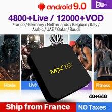 SUBTV Italy Arabic IPTV France MX10 Android 9.0 4G+64G IP TV Netherlands Italian French 1 Year Subscription