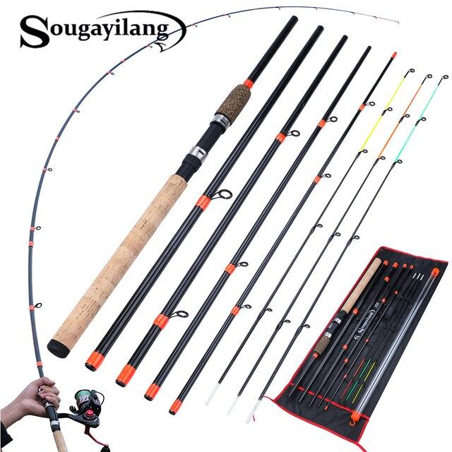 Sougayilang מזין חכת דיג L M H כוח ספינינג מוט נסיעות נייד 3m קרפיון טרי מים חכת דיג קרס דיג דה Pesca