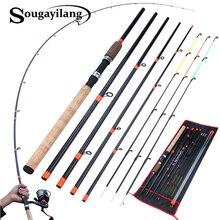 Sougayilang alimentador vara de pesca l m h power spinning vara viagem portátil 3m carpa vara de pesca de água doce equipamento de pesca