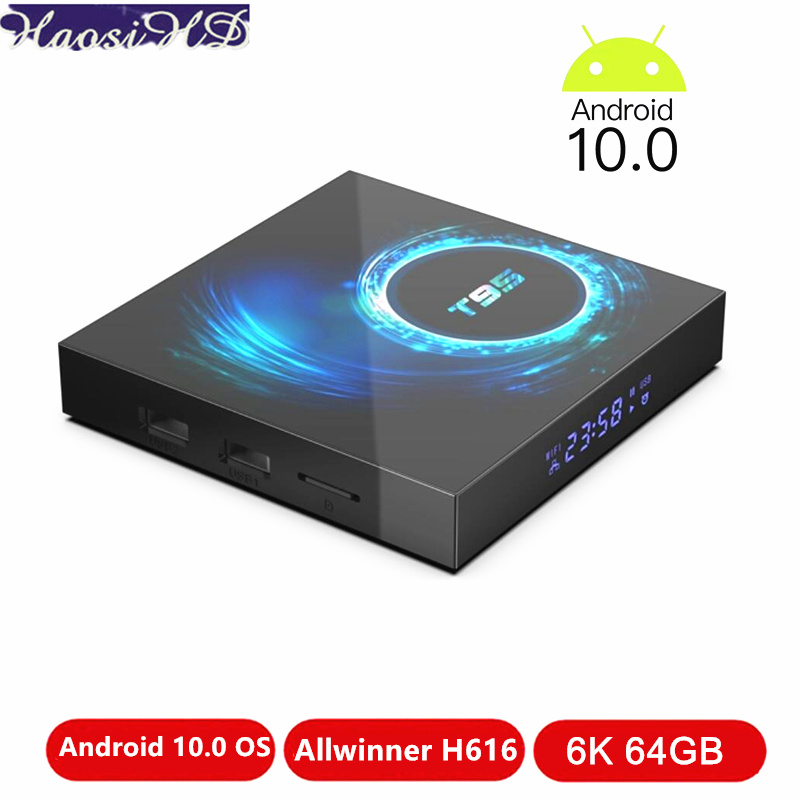 T95 Smart Tv Box Android 10 4g 64gb 32gb Androiod 10.0 Tvbox Allwinner H616 Quad Core H.265 6k Youtube Netflix Wifi Media Player