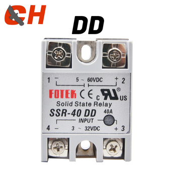 SSR- 25DD 40DD 60DD 80DD SSR Single Phase DC Control DC Heat Sink 3-32VDC To 5-220VDC25A 40A 60A 80ADD Solid State Relay solid state relay ssr 60da 60a 3 32vdc 24 380vac ssr