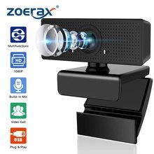 ZoeRax Webcam mit Mikrofon 1080P HD Webcam Streaming Computer Web Kamera mit 110 ° Weitblick Winkel-USB Computer Kamera cheap 1920x1080 ZMTYDS60S80 Nein 2Mega CMOS webcam 1080p webcams web cam web camera webcam with microphone webcam 4k pc gamer completo