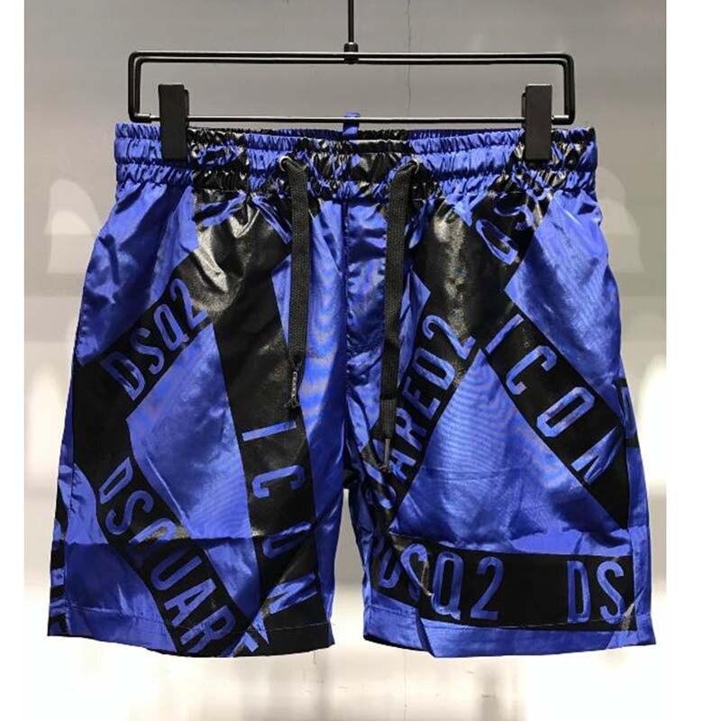 Men Beach Shorts Hawaiian Casual Shorts Fashion Breathable Personality Beach Trousers Casual Short Pants Letter Printing Short