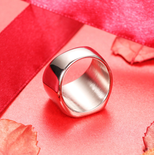 Silver Antique Black Smooth Design Men or Women Ring Fashion Finger Ring  Jewelry WJ001R 3