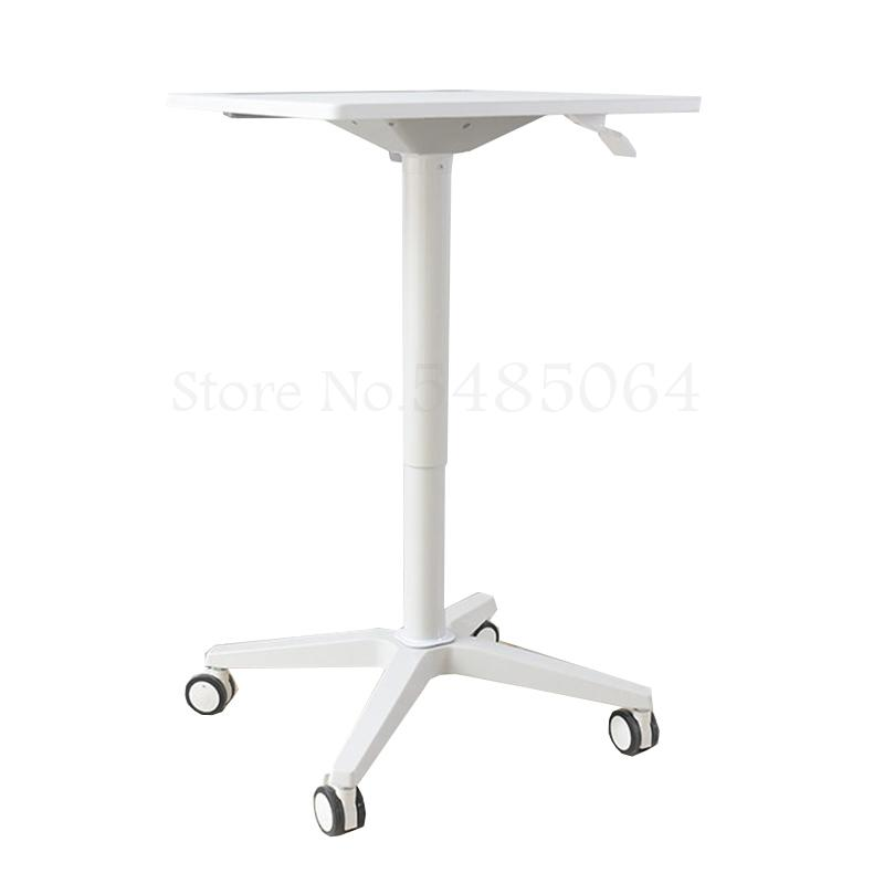 Mobile Lift Laptop Table Stand Office Sit Stand Alternate Work Podium Table