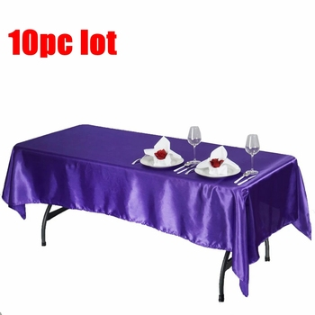 Black White Satin Table Cloth Rectangle Table Cover Table Overlay for Wedding Birthday Party Decors Christmas Tablecloth