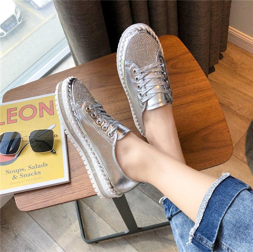 Tênis feminino com cristais, calçado feminino confortável