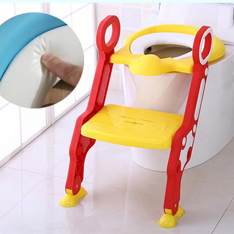 Step-wise Toilet Kids Chamber Pot Ladder Toilet For Kids Foldable Baby Toilet Escalator Padded