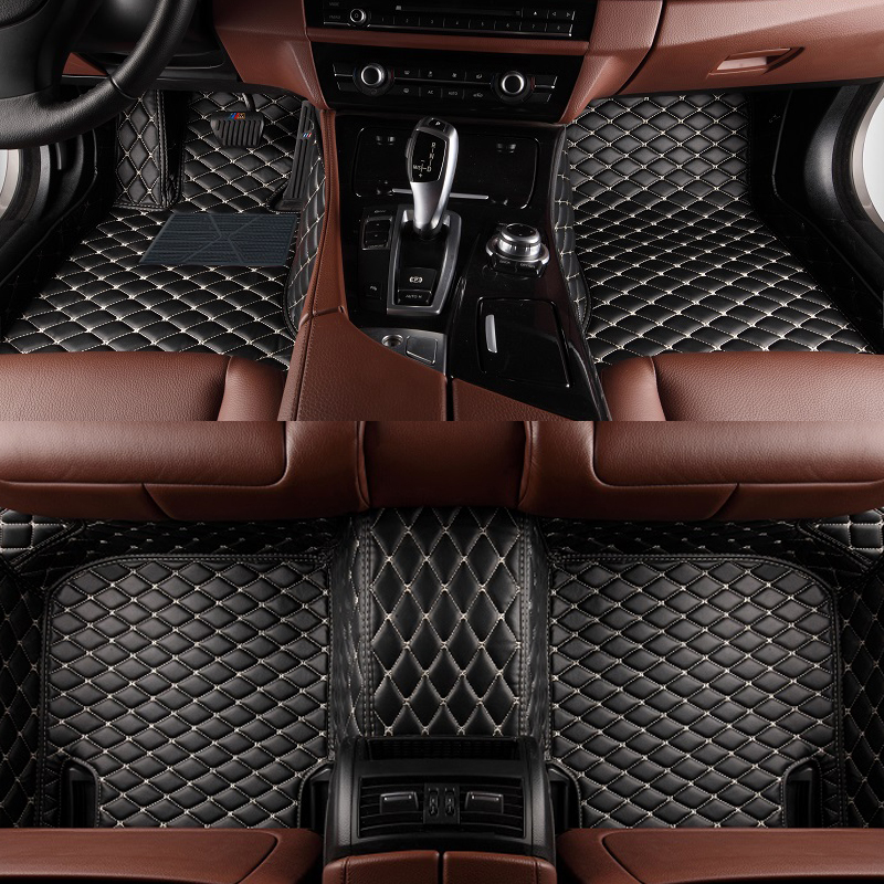 Custom Car Floor Mat For bmw f07 gt mercedes w202 accessories c63 amg 2012 Car Leather Carpet Floor Mat Liner image