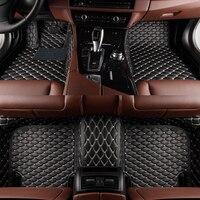 Custom Car Floor Mats For Nissan Nissan Juke Qashqai Sylphy Sunny Cefiro X TRAIL Patrol Tiida Car Leather Carpet Floor Mat Liner