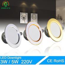 Светодиодный светильник, 3W, 5 Вт, 3000 К, 4000 к, 6500 К, светильник переменного тока, 220 В-240 В, светодиодный светильник для кухни, гостиной, внутреннего освещения, светодиодный светильник