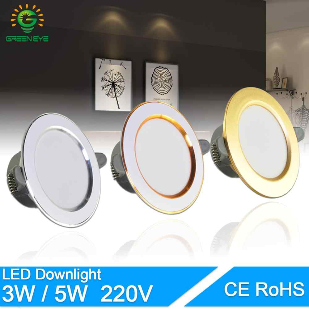 LED Downlight 3W 5W 3000k 4000k 6500k Downlight AC 220 V-240 V led downlight מטבח סלון מקורה led שקוע downlight