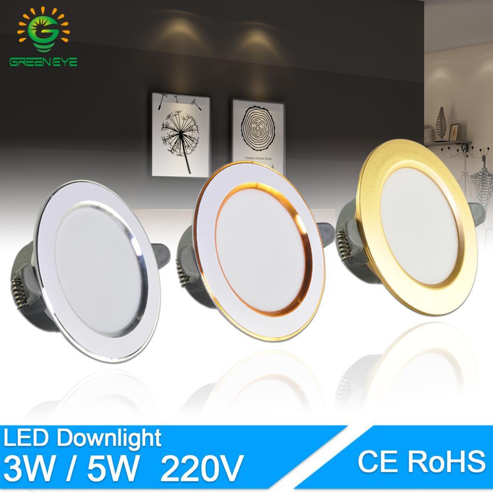LED Downlight 3W 5W 3000k 4000k 6500k Downlight AC 220V-240V Led Downlight Kitchen Living Room Indoor Led Recessed Downlight