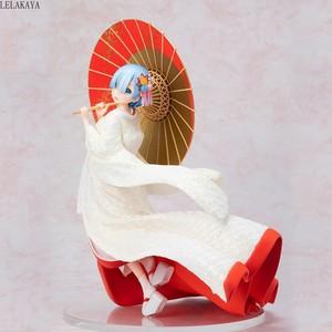 Image 2 - Yeni Anime Re: farklı bir dünyada yaşam sıfır Rem Ram beyaz Kimono gelin şemsiye Ver. 1/7 PVC Action şekilli kalıp oyuncaklar