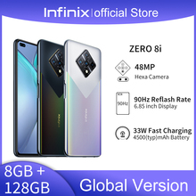 Global Version Infinix Zero 8i 8GB 128GB Smart Phone 6.85'' FHD 90Hz Full Screen 48MP Quad Camera 4500mAh Battery 33W Charger