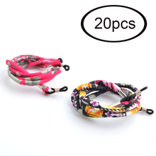 Groothandel 20 Pcs Etnische Lenzenvloeistof Zonnebril Neck String Koord Retainer Strap Retro Eyewear Lanyard Houder 2 Kleuren Beschikbaar