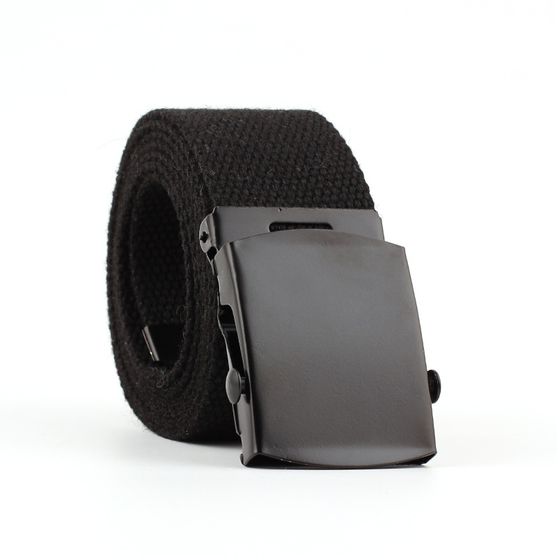 Men Women Automatic Fashion Nylon Canvas Belt Buckle Fans Canvas Belt Thicken Long Cloth Belts Knitted Waistband Ceintures Homme
