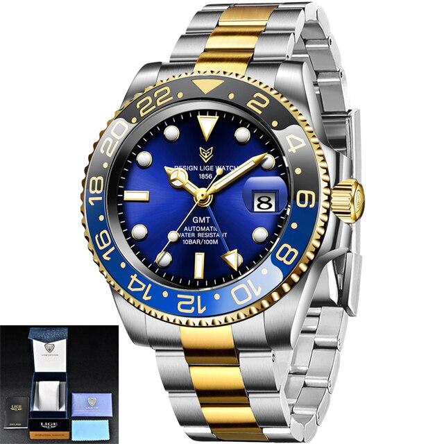 lige новые часы мужские брендовые автоматические механические фотография